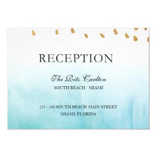 Costa - recepción invitación 12,7 x 17,8 cm