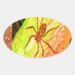 Costa Rica salvaje - arañas, cucarachas e insectos Colcomanias Oval Personalizadas