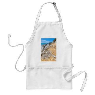Costa rocosa Kefalonia Grecia del paisaje Delantal