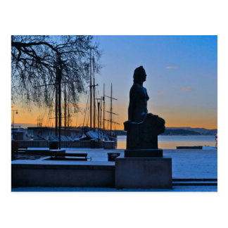 Costa y puerto deportivo de Oslo Tarjetas Postales