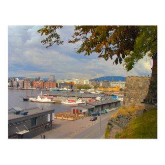 Costa y puerto deportivo de Oslo Postal
