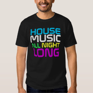 Costuras de Interknit - música de la casa durante Camisas