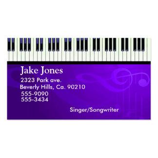 Costuras del piano del teclado plantilla de tarjeta personal