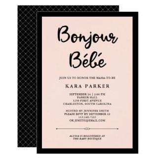 Costuras francesas fiesta de bienvenida al bebé invitación 12,7 x 17,8 cm