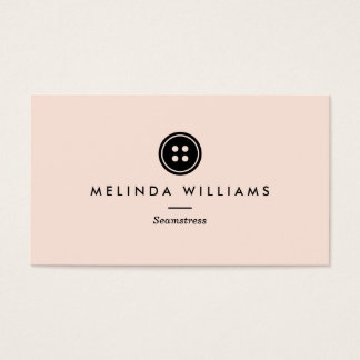 Costurera moderna del logotipo del botón, tarjeta de negocios