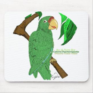 Cotorra Puertorriqueña/loro puertorriqueño Alfombrilla De Raton