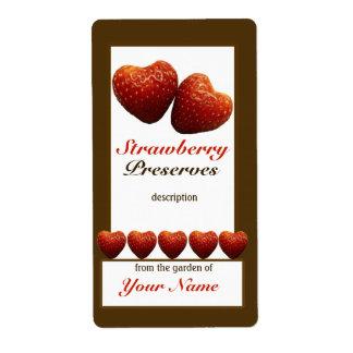 Cotos de fresa que conservan la etiqueta 1 del tar etiquetas de envío