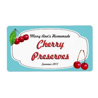 Cotos de la cereza que conservan etiquetas etiquetas de envío