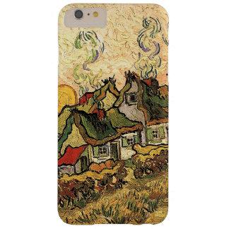 Cottages de Vincent van Gogh-Cubrir con paja en Funda Barely There iPhone 6 Plus