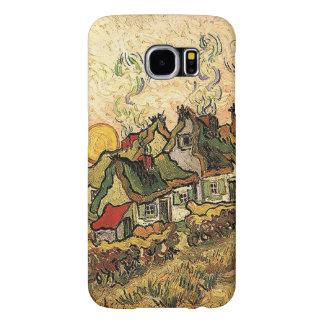 Cottages de Vincent van Gogh-Cubrir con paja en Funda Samsung Galaxy S6
