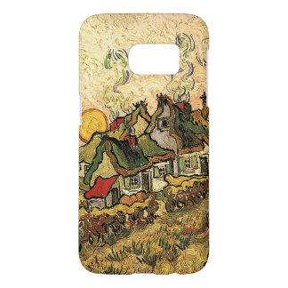 Cottages de Vincent van Gogh-Cubrir con paja en Funda Samsung Galaxy S7