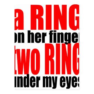 cou del romance del chiste de los ojos del dedo postal