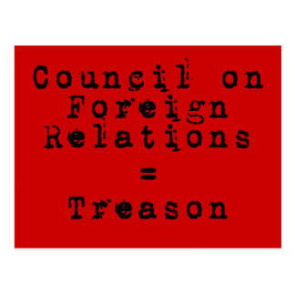Council on Foreign Relations = traición Postal