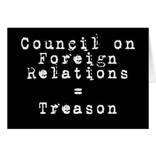 Council on Foreign Relations = traición Tarjeta