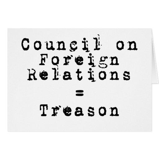 Council on Foreign Relations = traición Tarjetón