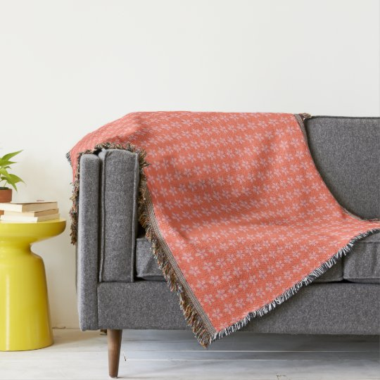 Country-Pale-Peach-Floral_Unisex-Blanket Manta