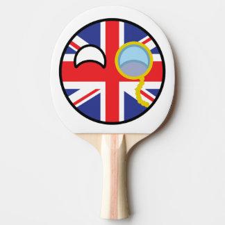 Countryball BRITÁNICO Pala De Ping Pong