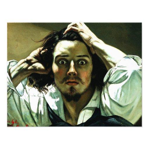 Courbet las invitaciones desesperadas del hombre invitación personalizada