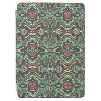 Cover De iPad Air Diseño rizado dibujado mano colorida abstracta del