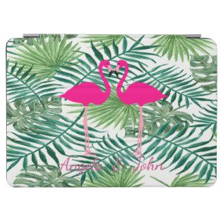 Cover De iPad Air Hojas de palma tropicales de la acuarela,
