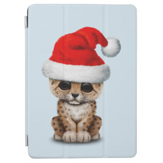 Cover De iPad Air Leopardo lindo Cub que lleva un gorra de Santa