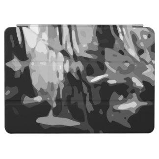 Cover De iPad Air Modelo abstracto gris blanco negro de moda