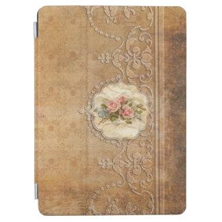 Cover De iPad Air Oro grabado en relieve vintage Scrollwork y rosas