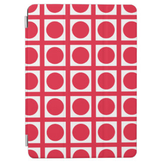 Cover De iPad Air Puntos elegantes de la rejilla del geranio