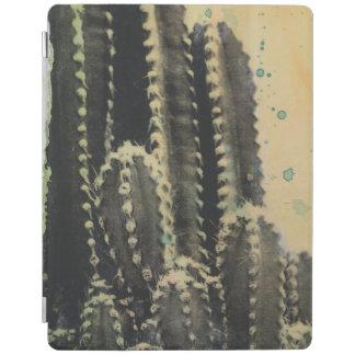Cover De iPad Cactus verde en fondo amarillo