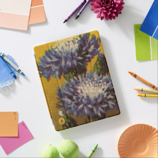 Cover De iPad Crisantemo azul