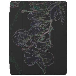 Cover De iPad Cubierta del iPad de la magnolia del arco iris