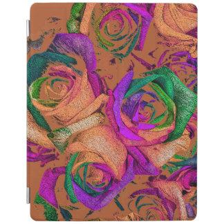 Cover De iPad Cubierta enrrollada del iPad de los rosas del arco