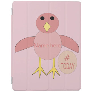 Cover De iPad Cubierta rosada de encargo del iPad del polluelo