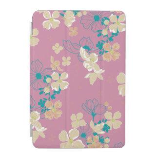 Cover De iPad Mini Beige y verde azulado florales
