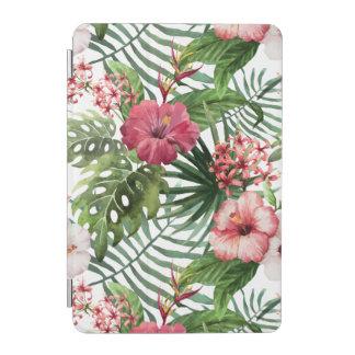 Cover De iPad Mini El hibisco tropical florece el modelo del follaje