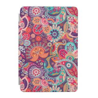 Cover De iPad Mini Estampado de flores de neón rosado de Paisley
