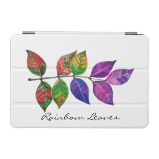 Cover De iPad Mini Hojas del arco iris de la acuarela