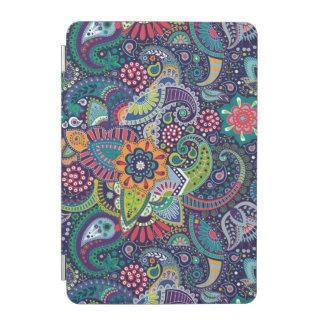 Cover De iPad Mini Modelo floral multicolor de neón de Paisley
