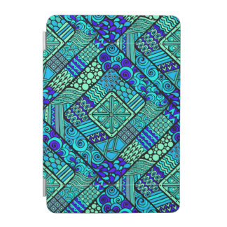 Cover De iPad Mini Modelo tribal abstracto azulverde de Boho