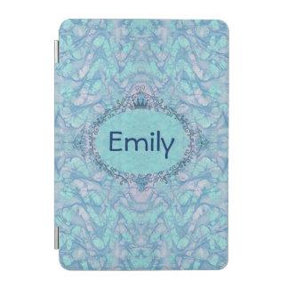 Cover De iPad Mini Teñido anudado azul de la aguamarina femenina su