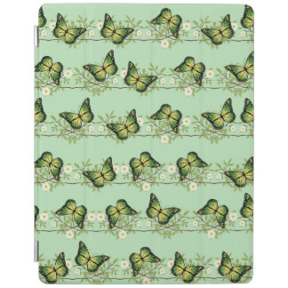 Cover De iPad Modelo de mariposas verde