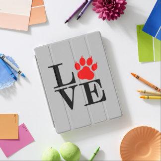 Cover De iPad Pata del amante del mascota