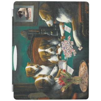 Cover De iPad Perros que juegan Mah Jongg