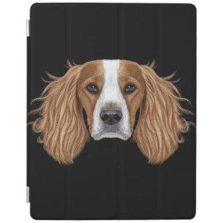 Cover De iPad Retrato ilustrado del perro de aguas de saltador