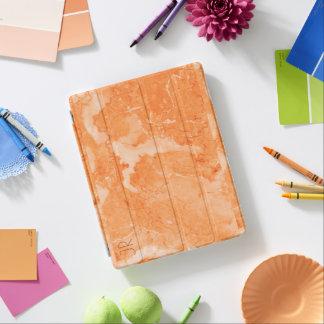Cover De iPad Textura de moda del mármol del rosa-oro