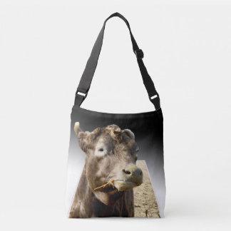 Cow_Chewing, _Popout_Art_Unisex_Cross_Body_Bag Bolsa Cruzada