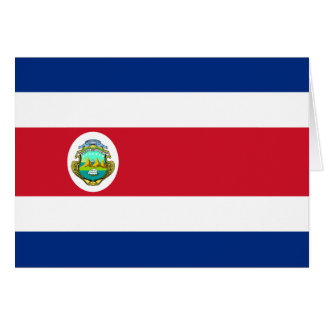 CR de la bandera de Costa Rica Tarjetas
