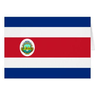 CR de la bandera de Costa Rica Tarjeta De Felicitación