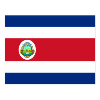 CR de la bandera de Costa Rica Postal