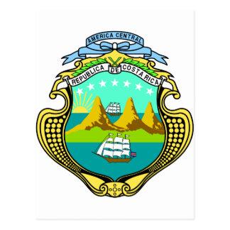 CR del escudo de armas de Costa Rica Postal